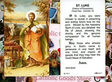 Saint Luke with Prayer to St. Luke - Paperstock Holy Card