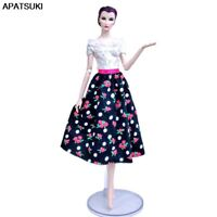 Patchwork Floral Countryside Fashion Doll Dress For Barbie Doll Clothes Outfits