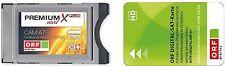 ORF Karte + Premium Plus Irdeto CI+ Modul  LED LCD TVs mit der ORF Karte HD NEU