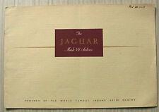JAGUAR MARK VII SALOON XK120 Engine LF Car Sales Brochure c1950-51