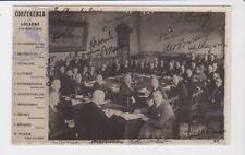 Italy 1925 Political Conference Locarno Souvenir Postcard Postal History