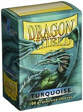 100 Bustine protettive Dragon Shield Magic Turquoise Turchese Sleeve Porta Mazzo