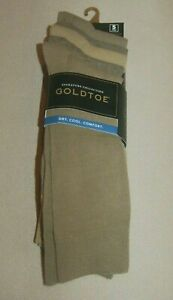 NWT Goldtoe Signature Collection Dry Cool Comfort Socks 5-Pair Sz Large 6-12.5