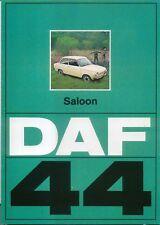 Daf 44 Saloon original UK Sales Brochure 1973 Pub. No. EP 8136