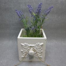 Formano Vintage Schublade weiß modern mit Lavendel Landhaus  Deko Sommer