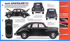 Jowett Javelin UK 1947-1953 Spec Sheet Brochure Poster IMP Hot Cars Group 1 #39