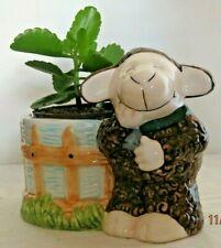 "Vintage Ceramic Pot ""Happy Lamb"" - 4"" Pot - Plant Not included"