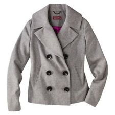 NEW Merona Women's Double Breasted Wool Blend Jacket Gray Sz S