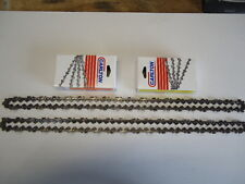 """2 New Carlton Full Chisel .325 .050 78 Drive Links 20"""" Chainsaw Chain USA MADE"""