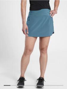 New! Athleta Run With It Skort Sequoia Blue SIZE  Large #566723
