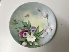 J.P.L. FRANCE Jean Pouyat Limoges Hand Painted Floral Signed by Artist Plate 7.5