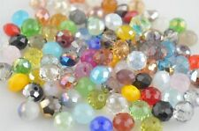 Wholesale FACETED RONDELLE CRYSTAL GLASS BEADS 6/8/10/12/14/16/18mm Choose