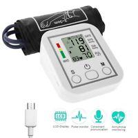 Digital LCD Upper Arm Blood Pressure Pulse Monitor Health Auto Sphygmomanometer
