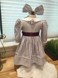 Made To Fit Pleasant Company American Girl: Addy's Striped Summer Dress