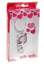 'I Love You' with Heart Key Ring - Valentine's Day / Anniversary / Birthday Gift