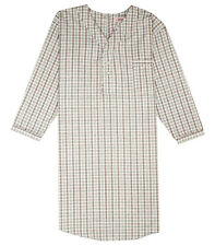 Men's Comfortable Back Snap Nightshirt Gown Long Sleeve Size Large