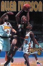 ALLEN IVERSON Vintage Original 1997 Philadelphia 76ers Starline NBA POSTER