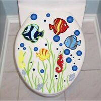 Underwater Fish Bubble Wall Stickers Toilet Bathroom Home Decor Waterproof