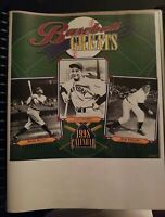 1998 Calendar of Baseball Greats Custom  In Book In Pages Babe Ruth Lou Gehrig