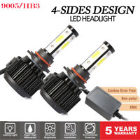 9005 H10 HB3 CANBUS LED Headlight Bulb High Beam180W Conversion Kit 6500K 2PCS