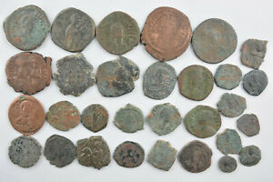 Lot 30 Byzantine bronze Follis many Anonymous FOR CLEANING 7-10th century AD
