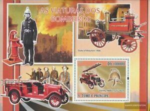 Sao Tome e Principe Block652 (kompl.Ausg.) postfrisch 2008 Historische Feuerwehr