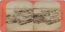 Marseille France Photo Stereo Neurdein Vintage albumine ca 1875