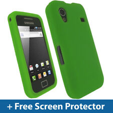 Green Silicone Skin Case for Samsung Galaxy Ace S5830 Android Cover Holder