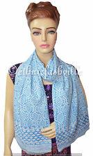Block Print Cotton Indian Fashion Women Long Scarf Wrap Sarong Shawl Large New