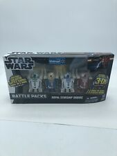"ROYAL STARSHIP DROIDS Star Wars TPM Battle Packs 3.75"" Figures 4-pk Walmart 2012"