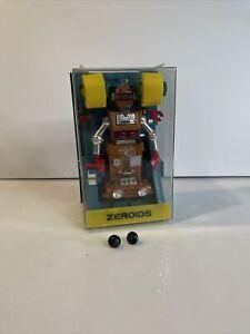 Vintage 1968 Ideal Zeroids Zobor Robot Toy w/ case ramp 1960's READ DESCRIPTION