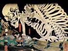 PAINTING FANTASY SCENE MITSUKINI DEFIES SKELETON UTAGAWA KUNIYOSHI PRINT CC623