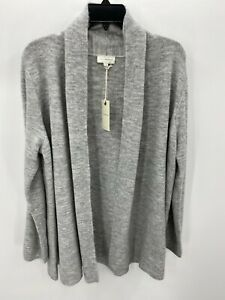 Lucky Brand Womens Size XL Extra Large Gray Long Sleeve Open Front Cardigan