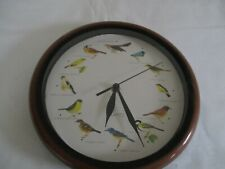 WALL CLOCK. 12 BIRD DESIGN, FACE HOURLY . PLUS BIRD SOUND
