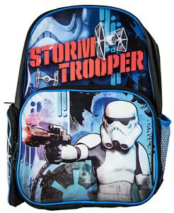 Star Wars Stormtrooper Backpack Kids Boys School Book Bag Luggage Toy Disney New