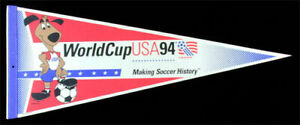 World Cup Soccer ORIGINAL USA 1994 Wincraft Pennant vtg MLS Souvenir flag banner