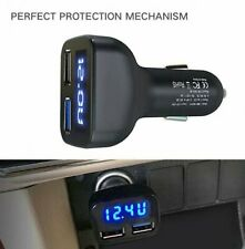 12V-24V Dual 2 USB Port Car Boat Charger Socket Voltage Digital Panel Volt Meter