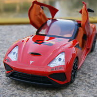 Model Cars Toys 1:32 Italian CLX Sports Car Sound & Light Alloy Diecast Red