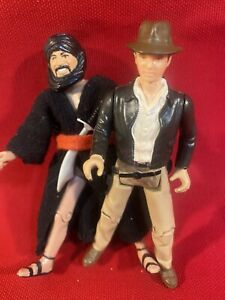 1982 Indiana Jones/ Cairo Swordsman Action Figures  ROTLA Kenner VTG Lot Of 2