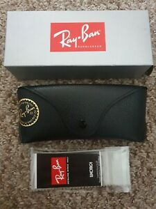 Ray Ban Black Sunglasses Case Cloth Gray Box Not Included