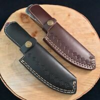 "Leather Knife Sheath Fixed Blade Knife For 8-10"" Knife Black or Brown Leather"