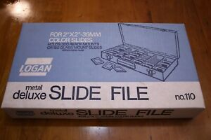 Logan Metal Deluxe 35mm Slide File No. 110 New Old Stock  Box