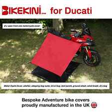 Adventure Motorcycle Bike Cover & Shelter Kit for camping Red/Silver