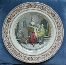 ADAMS Cries of London Two Bunches a Penny Primroses Display Plate Lady Dog Child