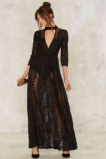 Nasty Gal The Perminova Maxi Dress Mock neck Size S NWOT $148