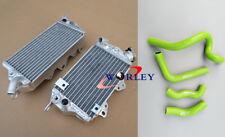 L&R FOR Kawasaki KLX650 KLX 650 1993-1996 94 95 Aluminum radiator + Green Hose