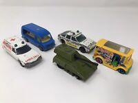 5 Vintage Corgi Matchbox Hot wheels / Cars Shop Van, Tank Toys