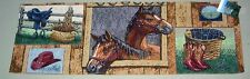 Barn Art Horses & Cowboy Boots Tapestry Table Runner