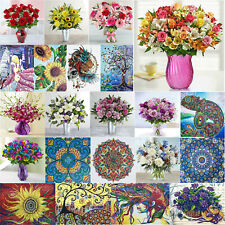 Special Shaped Drill 5D DIY Diamond Painting Flower Beauty Cross Stitch Kits UK