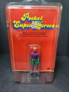 Vintage 1979 MEGO Pocket Super Heroes LEX LUTHOR Action Figure DC Superman MOC